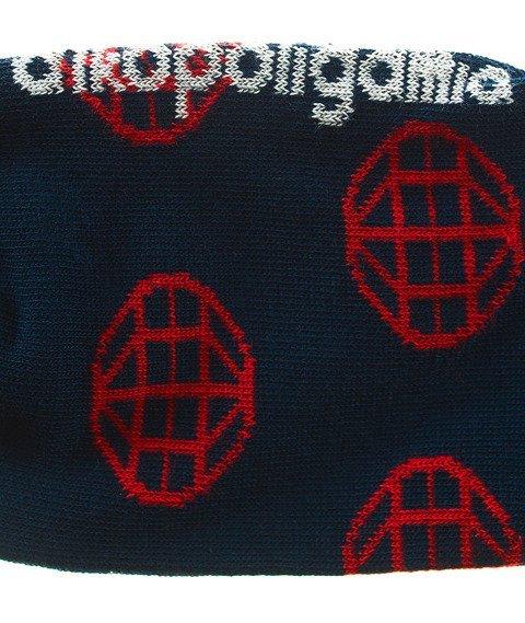 Alkopoligamia- Świat A1KO Skarpetki Czerwone/Granatowe