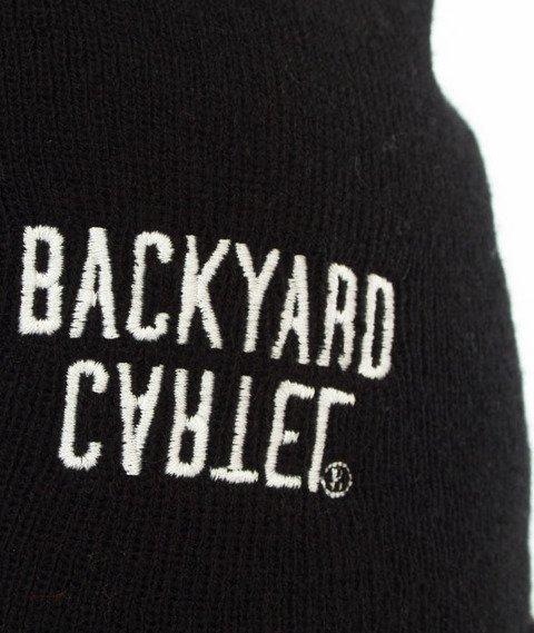 Backyard Cartel-Half Stripes Beanie Czapka Zimowa Czarna