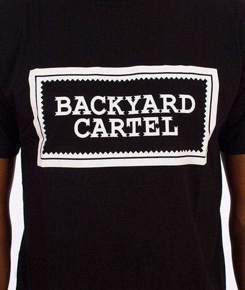 Backyard Cartel-Label Logo T-Shirt Czarne
