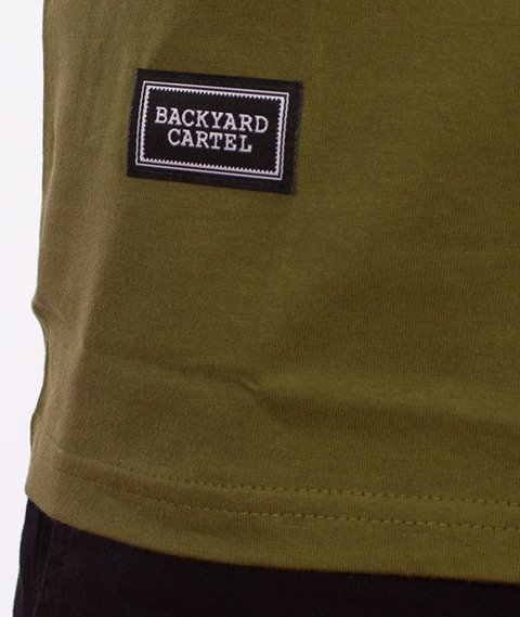 Backyard Cartel-Label Logo T-Shirt Khaki