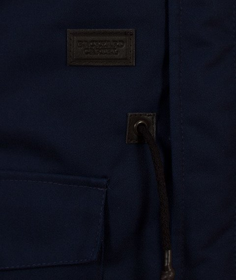 Backyard Cartel-Parka Long Granatowa/Bordowy