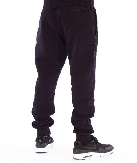 Biuro Ochrony Rapu-BOR New Outline Spodnie Dresowe Czarne