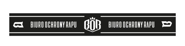 Biuro Ochrony Rapu BOR Szalik Czarny