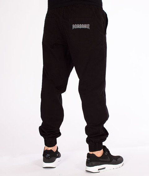 Biuro Ochrony Rapu-Jogger Fit Guma Strecz Spodnie B Outline Czarny Jeans