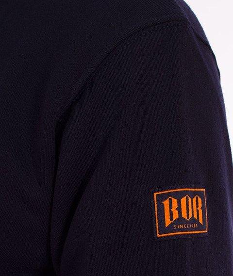Biuro Ochrony Rapu-New Borcrew Bluza Kaptur Granat