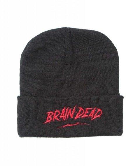 Brain Dead Familia-Brain Dead Czapka Zimowa Zawijana Czarna