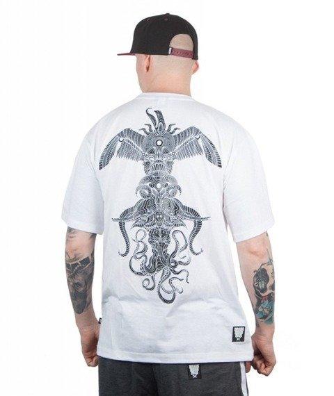 Brain Dead Familia-Totem T-shirt Biały