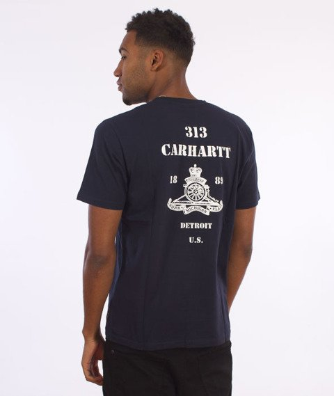 Carhartt-Artillery T-Shirt Grey Navy/White