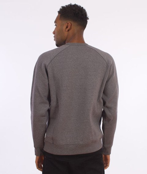 Carhartt-Chase Sweat Dark Grey Heather/Gold