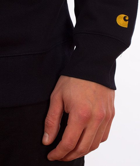 Carhartt-Chase Sweat Dark Navy/Gold
