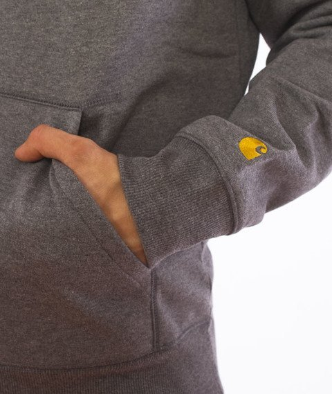 Carhartt-Hooded Chase Sweat Grey Heather