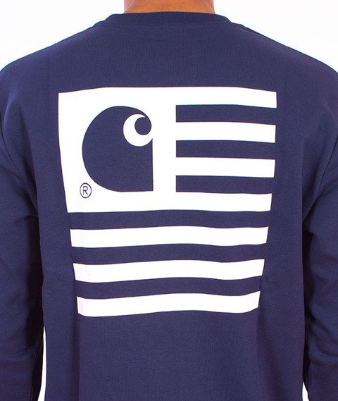 Carhartt-State Flag Sweat Blue/White