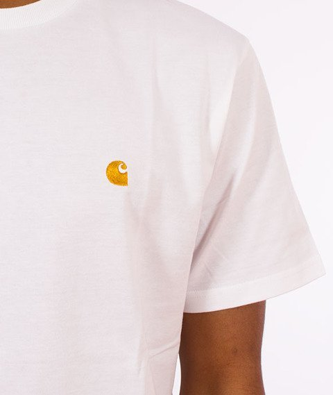 Carhartt WIP-Chase T-Shirt White/Gold
