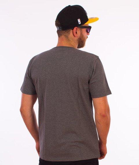 Carhartt WIP-College Script T-Shirt Dark Heather Grey/White