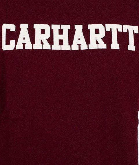 Carhartt WIP-College T-Shirt Chianti/White