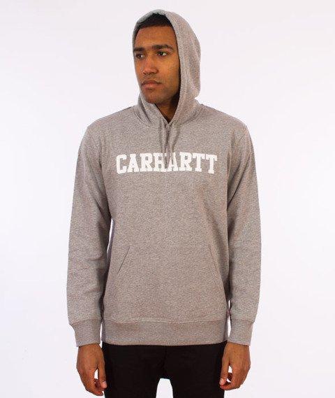 Carhartt WIP-Hooded College Sweat Bluza Kaptur Grey Heather/White