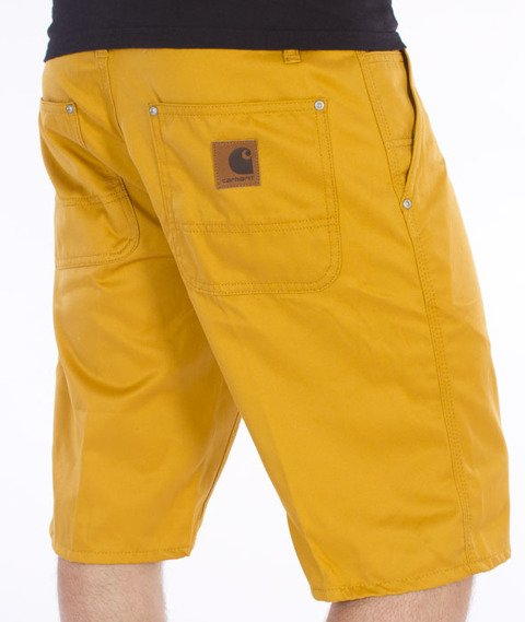 Carhartt WIP-Lincoln Simple Krótkie Spodnie Saffron Rigid