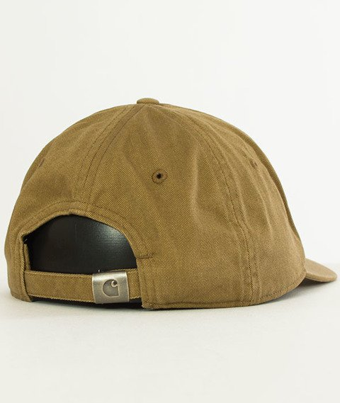 Carhartt WIP-Madison Logo Cap Snapback Twill Leather/Navy