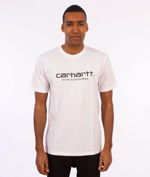 Carhartt WIP-WIP Script T-Shirt White/Camo Tiger