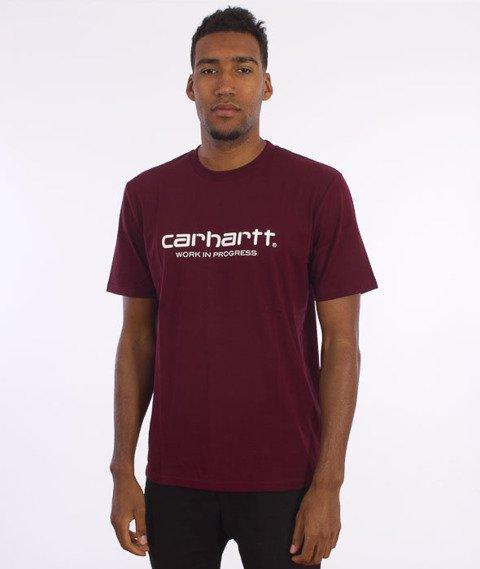 Carhartt-Wip Script T-Shirt  Chianti/White