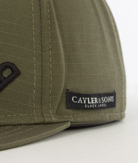 Cayler & Sons-Black Arch Cap Snapback Olive/Black