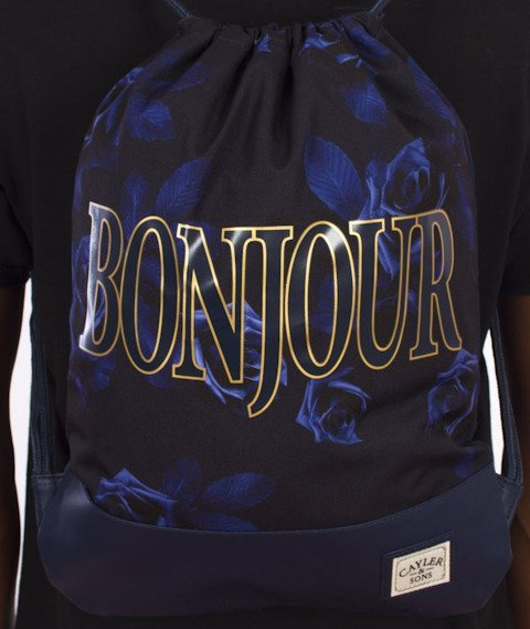 Cayler & Sons-Bonjour Gym Bag Navy/Gold
