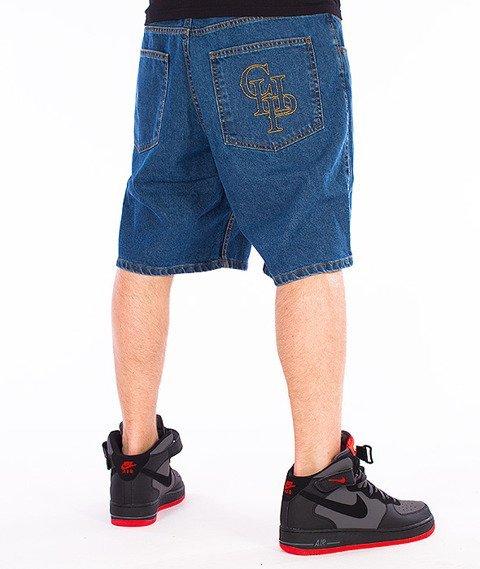 Chada-CHP Spodnie Krótkie Jeans Jasno-Niebieskie