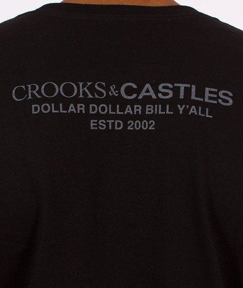 Crooks & Castles-Get Paid T-Shirt Czarny