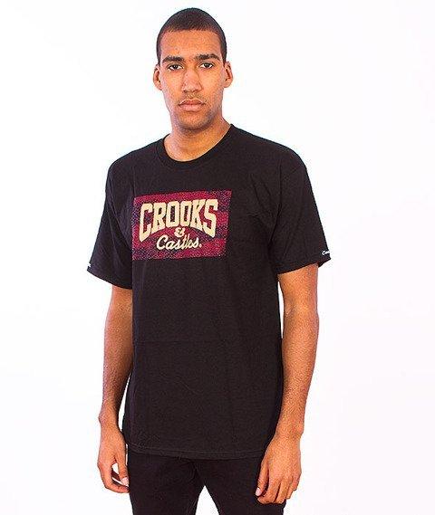 Crooks & Castles-Tiger Speckle Logo T-Shirt Black