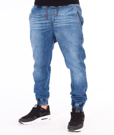 Diamante-Classic Jogger Jeans RM Spodnie Light Blue Wyprane