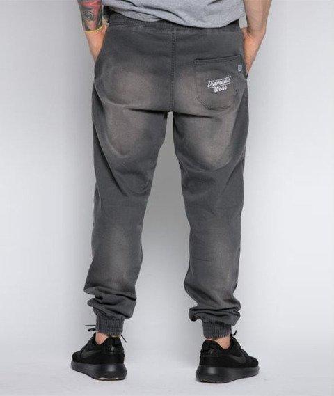 Diamante-Classic Jogger Pants Spodnie Szare Wycierane