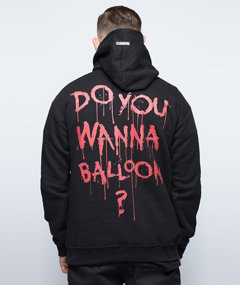 Diamante-Do You Wanna Balloon? Bluza Kaptur Czarny