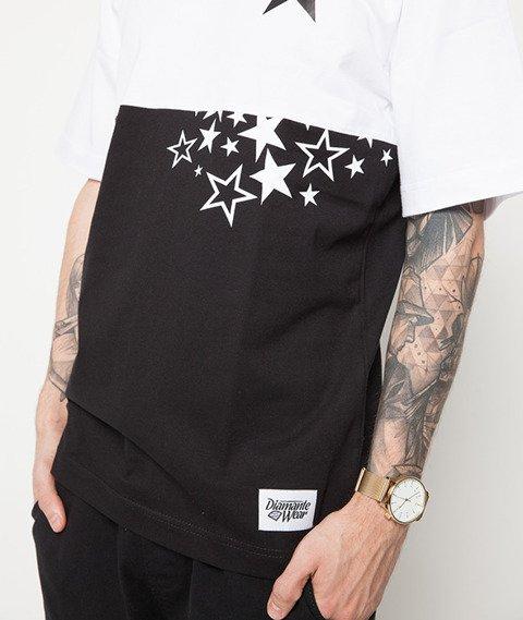 Diamante-Double Stars T-Shirt Czarny/Biały