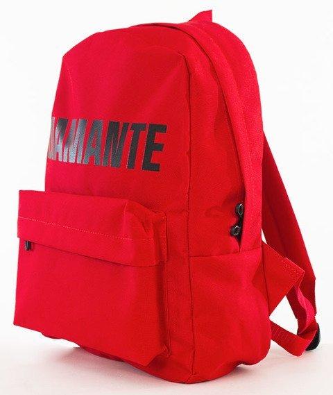 Diamante-LOGO Plecak Czerwony