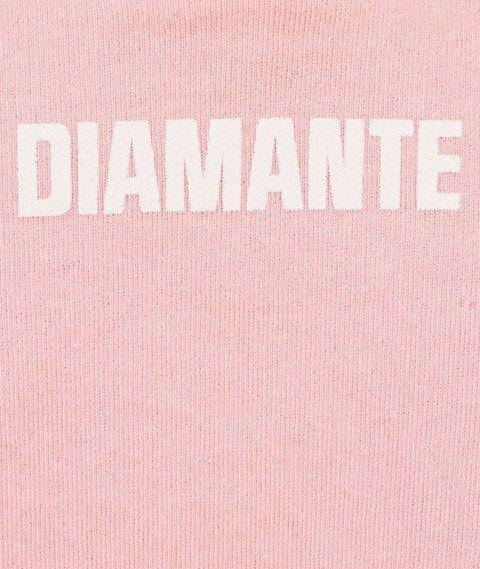 Diamante-Squat Crewneck Bluza Damska Różowa