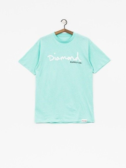 Diamond OG SCRIPT T-Shirt Miętowy