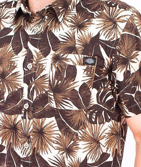 Dickies-Moss Beach Slim Shirt Brown