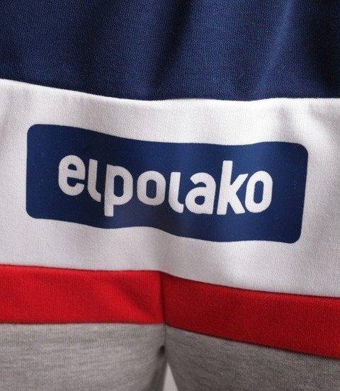 El Polako-3EP CUT Spodnie Krótkie Dresowe Szary/Granat