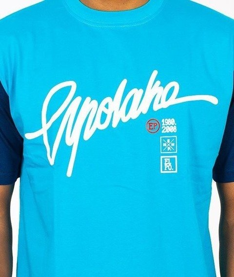 El Polako-Champion T-Shirt Niebieski