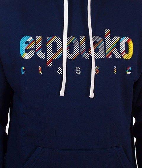 El Polako-Classic Line Bluza Kaptur Granatowy