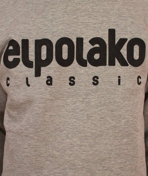 El Polako-Classic Logo Bluza Szara