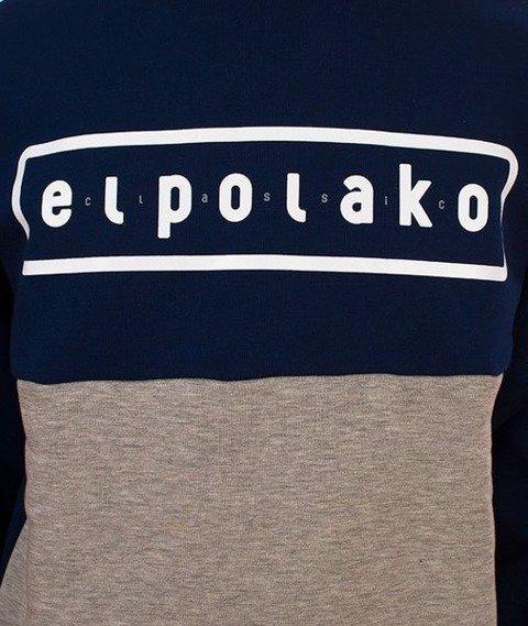 El Polako-Classic Style Crewneck Bluza Granatowa