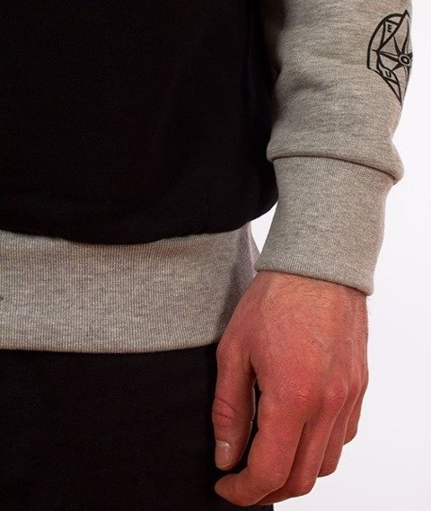 El Polako-Classic Style Crewneck Bluza Szara