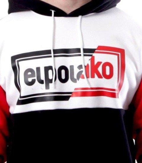 El Polako-Cut Color Bluza Kaptur Czarny/Czerwony