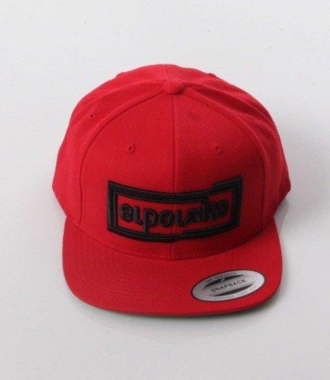 El Polako-Cut Colors Snapback Czerwona