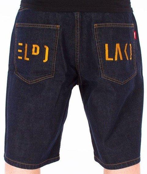 El Polako-Cut Spodnie Krótkie Jeans Dark Blue
