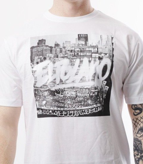El Polako-Destroyed Town T-Shirt Biały