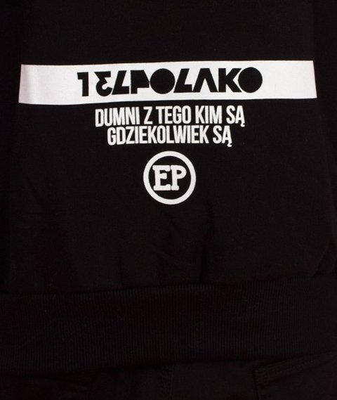 El Polako-Dumni Z Tego Hoody Bluza Kaptur Czarna