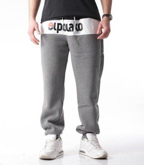 El Polako-Elpo New Regular Spodnie Dresowe Ciemno Szary