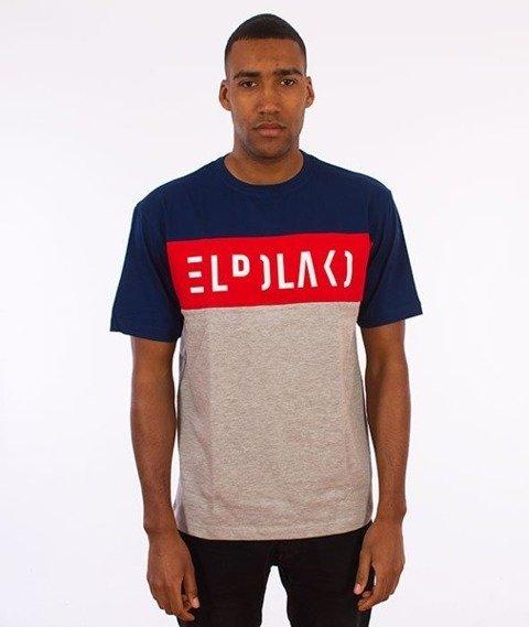 El Polako-Elpolako Cut T-Shirt Premium Granatowy/Czerwony/Szary